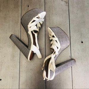 Jessica Simpson Off White Platform Heels SZ 6.5